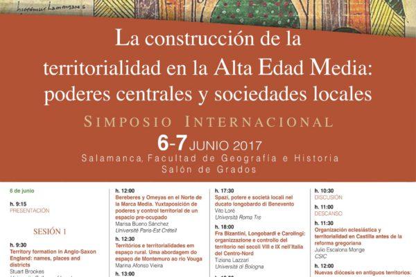 """Simposio Internacional """"La construcción de la territorialidad en la Alta Edad Media: poderes centrales y sociedades locales"""""""