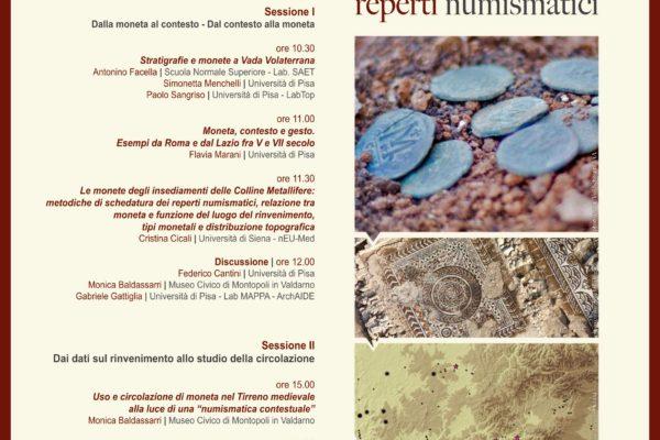 """El GIR ATAEMHIS participa en la organización del Incontro di studio """"Metodologie per l'analisi contestuale dei reperti numismatici"""""""